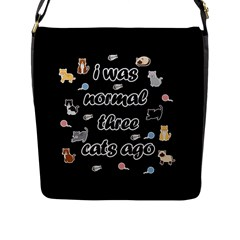 I Was Normal Three Cats Ago Flap Messenger Bag (l)  by Valentinaart