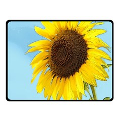 Sunflower Fleece Blanket (small) by Valentinaart