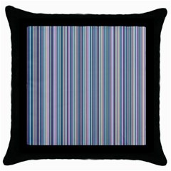 Lines Throw Pillow Case (black)