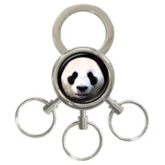 Panda Face 3 Ring Key Chains by Valentinaart