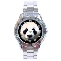 Panda Face Stainless Steel Analogue Watch by Valentinaart