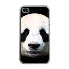 Panda Face Apple Iphone 4 Case (clear) by Valentinaart