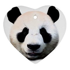 Panda Face Ornament (heart)
