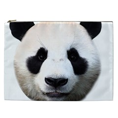 Panda Face Cosmetic Bag (xxl)  by Valentinaart