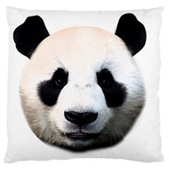 Panda Face Large Flano Cushion Case (one Side) by Valentinaart