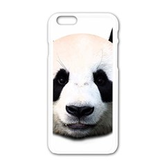 Panda Face Apple Iphone 6/6s White Enamel Case by Valentinaart