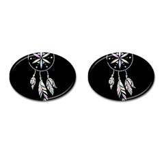 Dreamcatcher  Cufflinks (oval) by Valentinaart