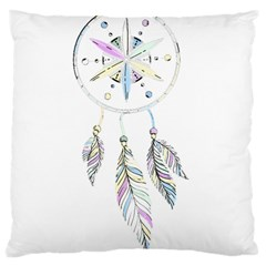 Dreamcatcher  Large Cushion Case (two Sides) by Valentinaart