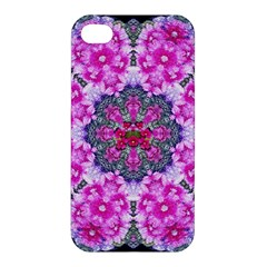 Fantasy Cherry Flower Mandala Pop Art Apple Iphone 4/4s Premium Hardshell Case by pepitasart