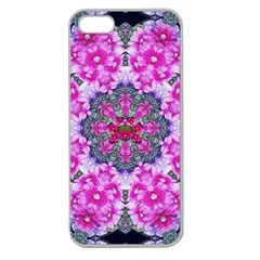 Fantasy Cherry Flower Mandala Pop Art Apple Seamless Iphone 5 Case (clear) by pepitasart