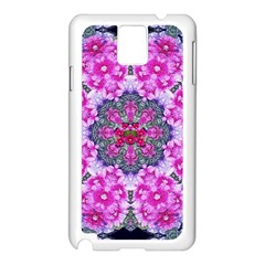 Fantasy Cherry Flower Mandala Pop Art Samsung Galaxy Note 3 N9005 Case (white) by pepitasart