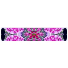 Fantasy Cherry Flower Mandala Pop Art Flano Scarf (small) by pepitasart