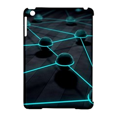 3d Balls Rendering Lines  Apple Ipad Mini Hardshell Case (compatible With Smart Cover) by amphoto