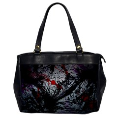 Black & Red Mess Office Handbags by amphoto