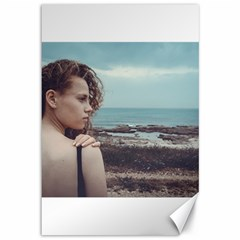 Girl & The Sea Canvas 12  X 18   by amphoto