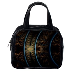 Lines Dark Patterns Background Spots  Classic Handbags (one Side) by amphoto