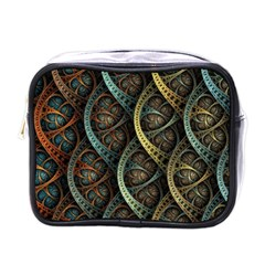 Line Semi Circle Background Patterns  Mini Toiletries Bags by amphoto