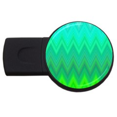 Zig Zag Chevron Classic Pattern Usb Flash Drive Round (4 Gb)