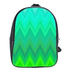 Zig Zag Chevron Classic Pattern School Bag (large) by Nexatart