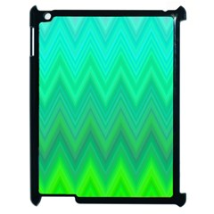 Zig Zag Chevron Classic Pattern Apple Ipad 2 Case (black)