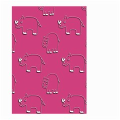 Rhino Pattern Wallpaper Vector Small Garden Flag (two Sides) by Nexatart