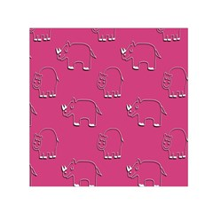 Rhino Pattern Wallpaper Vector Small Satin Scarf (square) by Nexatart