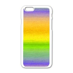 Ombre Apple Iphone 6/6s White Enamel Case by ValentinaDesign