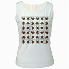 Native American Pattern Women s White Tank Top by linceazul