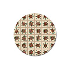 Native American Pattern Magnet 3  (round) by linceazul