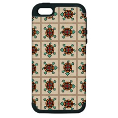Native American Pattern Apple Iphone 5 Hardshell Case (pc+silicone) by linceazul