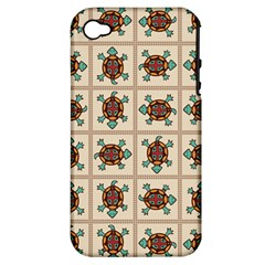 Native American Pattern Apple Iphone 4/4s Hardshell Case (pc+silicone) by linceazul