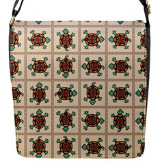 Native American Pattern Flap Messenger Bag (s) by linceazul