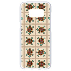Native American Pattern Samsung Galaxy S8 White Seamless Case by linceazul