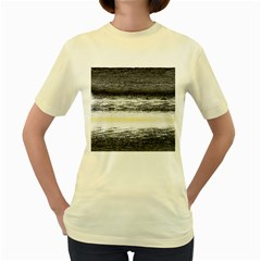 Ombre Women s Yellow T Shirt