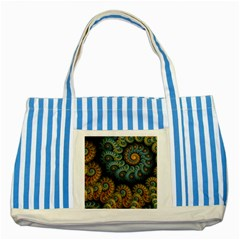 Spiral Background Patterns Lines Woven Rotation Striped Blue Tote Bag by amphoto
