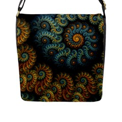 Spiral Background Patterns Lines Woven Rotation Flap Messenger Bag (l)  by amphoto