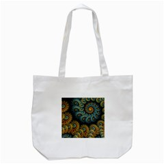 Spiral Background Patterns Lines Woven Rotation Tote Bag (white) by amphoto