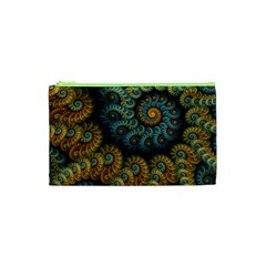 Spiral Background Patterns Lines Woven Rotation Cosmetic Bag (xs) by amphoto
