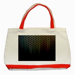 Abstract Resize Classic Tote Bag (red)