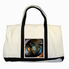 Abstract Abstract Space Resize Two Tone Tote Bag by amphoto