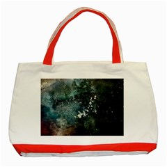 Grunge 1680x1050 Abstract Wallpaper Resize Classic Tote Bag (red) by amphoto