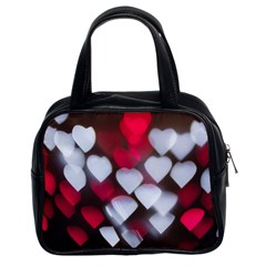 Highlights Hearts Texture  Classic Handbags (2 Sides) by amphoto