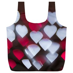 Highlights Hearts Texture  Full Print Recycle Bags (l)  by amphoto