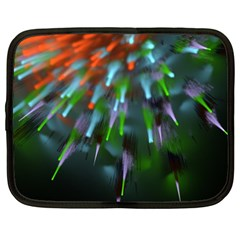 Explosion Rays Fractal Colorful Fibers Netbook Case (xxl)  by amphoto