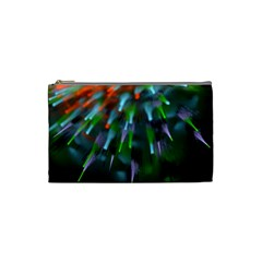 Explosion Rays Fractal Colorful Fibers Cosmetic Bag (small)  by amphoto