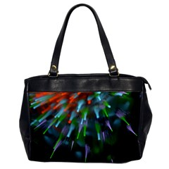 Explosion Rays Fractal Colorful Fibers Office Handbags by amphoto