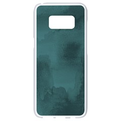 Ombre Samsung Galaxy S8 White Seamless Case by ValentinaDesign