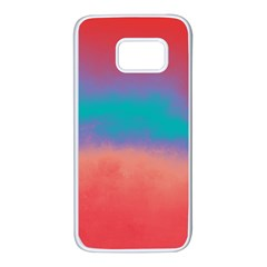 Ombre Samsung Galaxy S7 White Seamless Case by ValentinaDesign