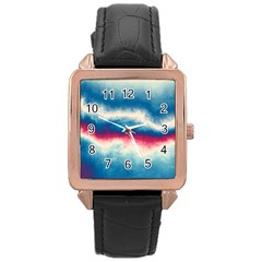 Ombre Rose Gold Leather Watch  by ValentinaDesign