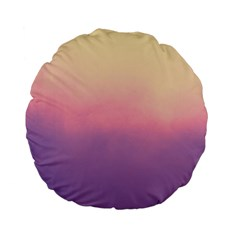 Ombre Standard 15  Premium Flano Round Cushions by ValentinaDesign